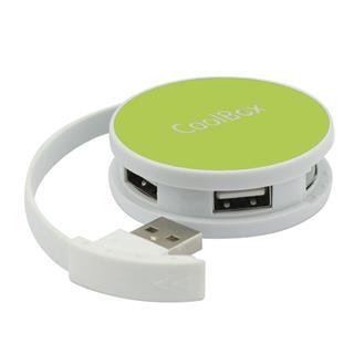 HUB USB 4 PUERTOS COOLBOX USB 2.0 VERDE