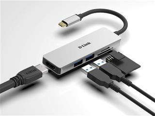 HUB DLINK USB-C 5EN1 CON HDMI / 2xUSB3.0 / LECTOR ...