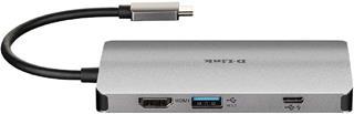 HUB DLINK USB-C 8 EN 1 CON HDMI / ETHERNET / ...