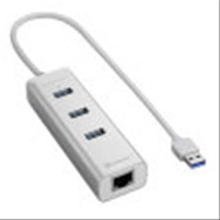 HUB USB SHARKOON 3X3.0 RJ45 ALUMINIO PLATA