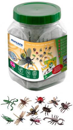Juego Miniland insectos 12 figuras