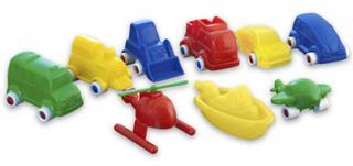 Juego Miniland Minimobil 36 vehículos surtidos