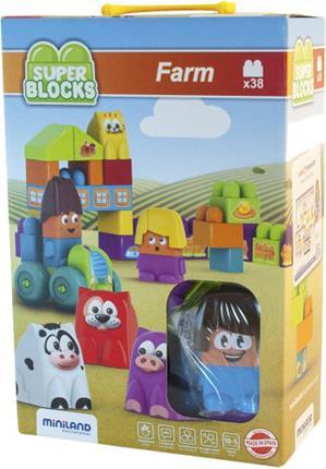 Juego SUPER BLOCKS FARM 27 PIEZAS MINILAND