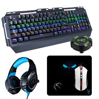 KIT GAMING TECLADO RATON AURICULAR HUB WOXTER ELITE KIT