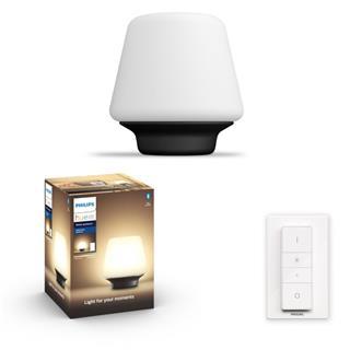 Lámpara Philips Well-Hue tablelamp blck 1x9.5W ...
