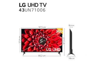 "Televisión LG 43UN711 43""LED UHD 4K IPS Smart TV"
