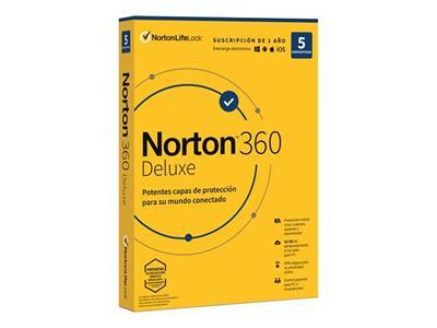 Licencias Norton 360 Deluxe 5 Dispositivos 1 año ...