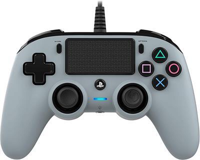 Mando Nacon Compact Controller Wired para PS4 Gris