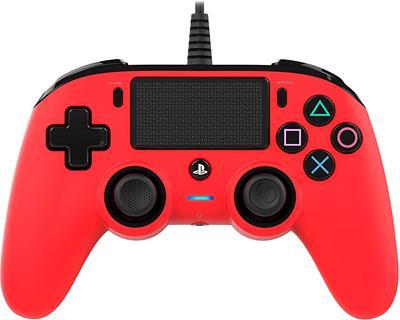 Mando Nacon Compact Controller Wired para PS4 Rojo