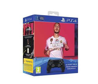 CONSOLA  SONY DS4 V2 NEGRO + FIFA 2020  DUAL·