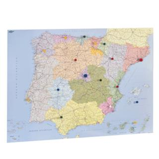 MAPA ESPAÑA Y PORTUGAL PLASTIFICADO SIN MARCO ...