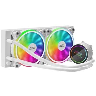 Mars Gaming ML240 White 2x12cm RGB-A ...
