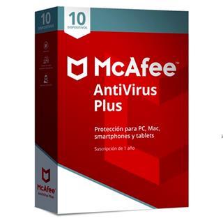 MCAFEE ANTIVIRUS PLUS 2019 MULTIDISPOSITIVO (10 dispositivos) 1