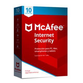 MCAFEE INTERNET SECURITY 2019 MULTIDISPOSITIVO (10 dispositivos)