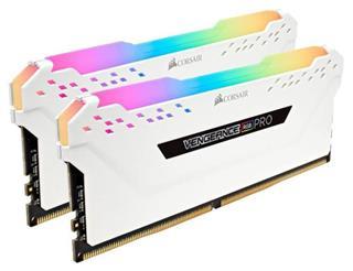 MEMORIA CORSAIR DDR4 16GB 2X8GB PC 3000 VENGEANCE RGB PRO WHITE