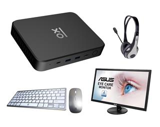 "Mini PC N464 4GB 64GB W10Pro + ASUS 21.5"" FHD + ..."