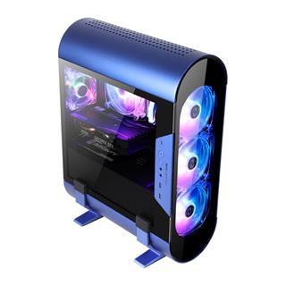 CAJA MINITORRE GAMING ABKONCORE ALUMINIUM AL300M BLUE CRISTAL TEMPLADO 3x120MM SYNC ARGB