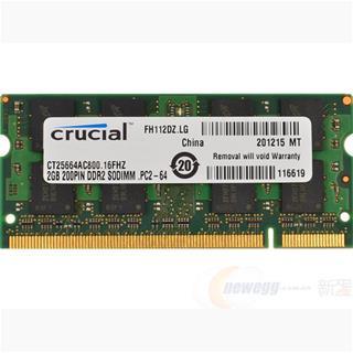 Módulo Crucial Technology CT25664AC800 DDR2 2GB 800MHz CL6 SODIM