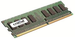Módulo UNBUFFERED  CRUCIAL TECHNOLOGY DDR2 1GB 800MHZ CL6
