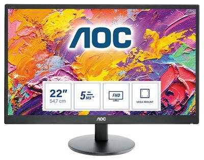 MONITOR AOC E2270SWDN 21.5' FHD 5MS VGA DVI VESA