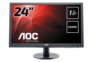 "Monitor AOC e2460Sh LED 24"" 1080p 1ms VGA DVI HDMI"