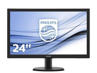 """Monitor PHILIPS 226V3LSB5 LED 21.5"""" 1920x1080 VGA DVI Negro"""