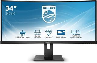 "Monitor Philips B Line 342B1C/00 34"" LED WFHD curvo"
