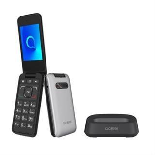 TELEFONO MOVIL ALCATEL 30.26X PLATA·