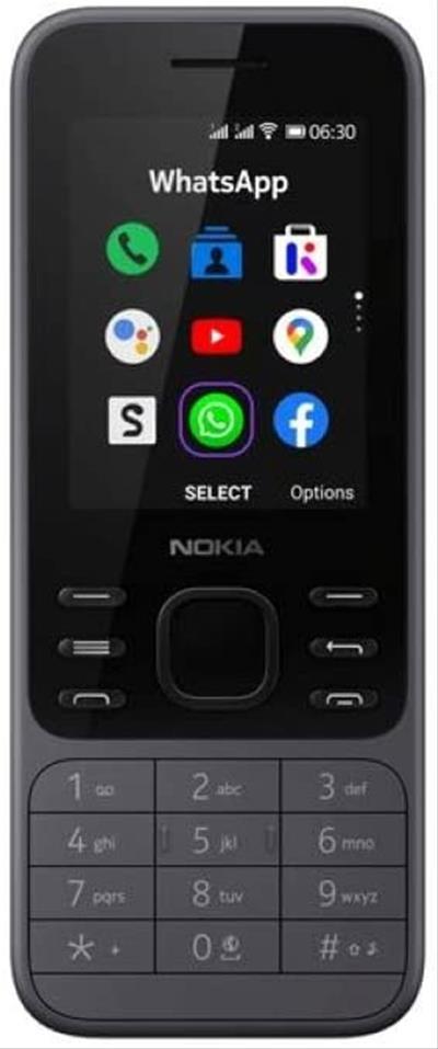 Móvil Nokia 6300 4G 4GB Gris Carbón Libre