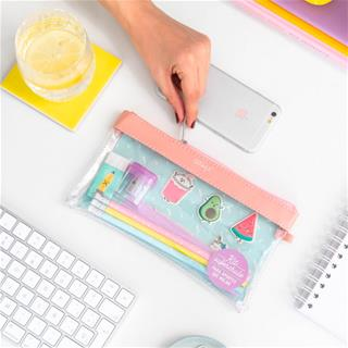 Mr. Wonderful KIT DE ESTUCHE TRANSPARENTE PVC ...