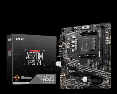 MSI A520M PRO-VH AMD A520 Zócalo AM4 micro ATX