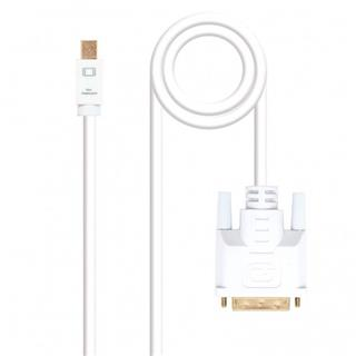 CABLE CONVERSOR MINI DP A DVI , MINI DP/M-DVI/M, 2M NANO BLANCO