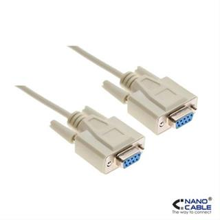 CABLE SERIE RS232 DB9/H-DB9/H 1.8M NANOCABL