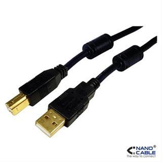 Cable usb 20 ambm 5m nanocable ferrita