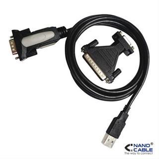 CONVERSOR USB IMPRESORA A SERIE A/M-RS232 DB9/M DB25M 1.8M NEGRO