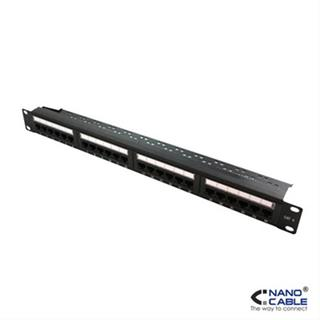 Patch panel 24puertos cat6 utp 19 1u nanoca