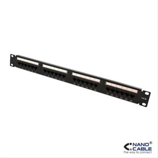 "PATCH PANEL 24PUERTOS CAT5. UTP 19"" 1U NANOCA"