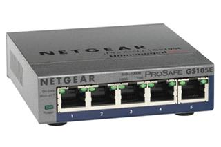 NETGEAR PROSAFE PLUS GIGABIT SWITCH     5PORT GS105PE-10000S