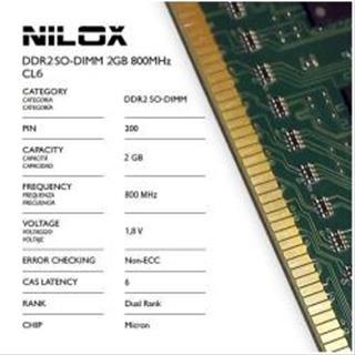 Nilox RAM DDR2 SO-DIMM 2GB 800MHZ CL6