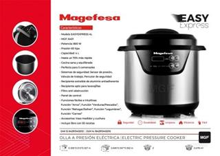 Olla eléctrica Magefesa Easyexpress 4L 500W ...