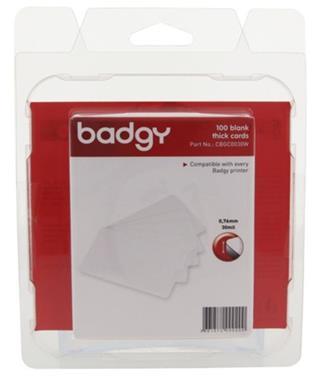 PACK 100 TARTEJAS PVC BADGY CBGC0030W