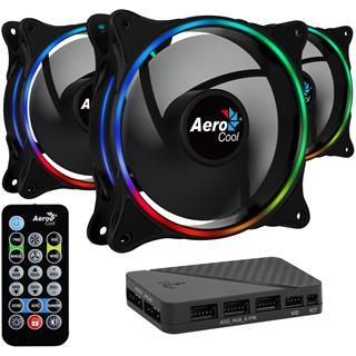 AeroCool Eclipse 12 Pro ARGB Pack 3 Ventiladores 120mm + H66F HU