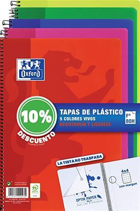 PACK 4+1 CUADERNO ESPIRAL CLASSIC W-E FOLIO 80 ...