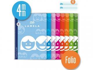 PACK DE 10. CUADERNO BASICO FORMATO FOLIO 80 HOJAS RAYADO 4 MM S