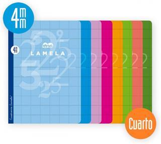 PACK DE 10. LIBRETA CUBIERTA BASICA FORMATO A4 RAYADO 4 MM 50 HO