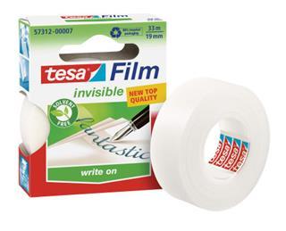 PACK DE 10. TESA 57312 cinta adhesiva 33 m Transparente [min10]