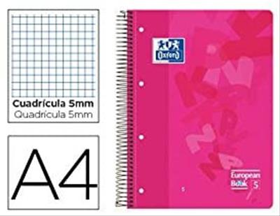 PACK DE 5. EUROPEANBOOK 5 T.PLÁSTICO A4+ 120H.5X5 SURTIDO 50% HO