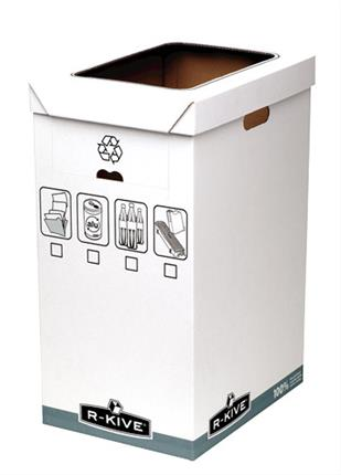 PACK DE 5. Fellowes R-Kive System Recycle Bin archivador organiz