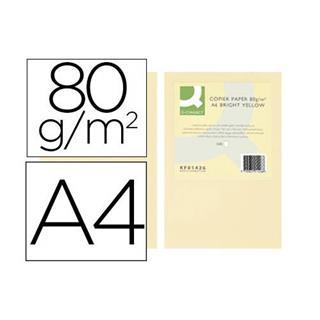 PACK DE 5. PAQUETE 500 HOJAS PAPEL A4 80GR.CHAMOIS CREMA ADAGIO