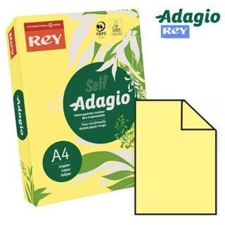 PACK DE 5. PAQUETE 500 HOJAS PAPEL A4 80GR.AMARILLO PALIDO ADAGI